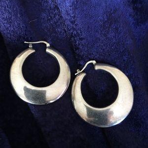 Sterling silver snap-bar hoops